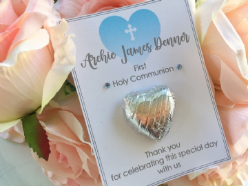 Personalised 1st Holy Communion Chocolate Favours